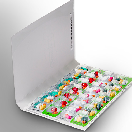 Multi dose blister packs / Medication tray title=Med Packaging